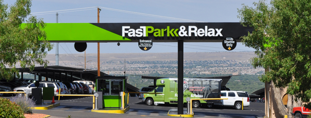 Fast Park & Relax location sign