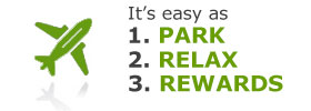 It's as easy as 1. Park, 2. Relax, 3. Rewards